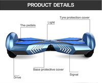 Wholesale 2 wheels self balancing electric scooter hoverboard with bluetooth speaker
