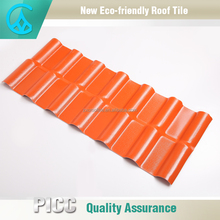 Heat insulation ASA pvc colored plastic roof sheet