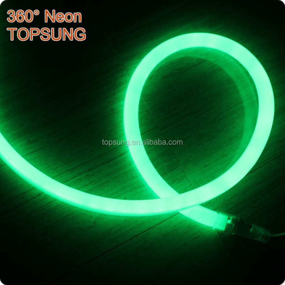 220v AC red 360 degree led neon flex round Topsung Lighting