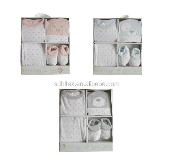 4pcs baby gift set in clothing