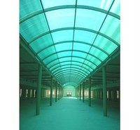 Fiberglass roof panels for car parking and swimming pool