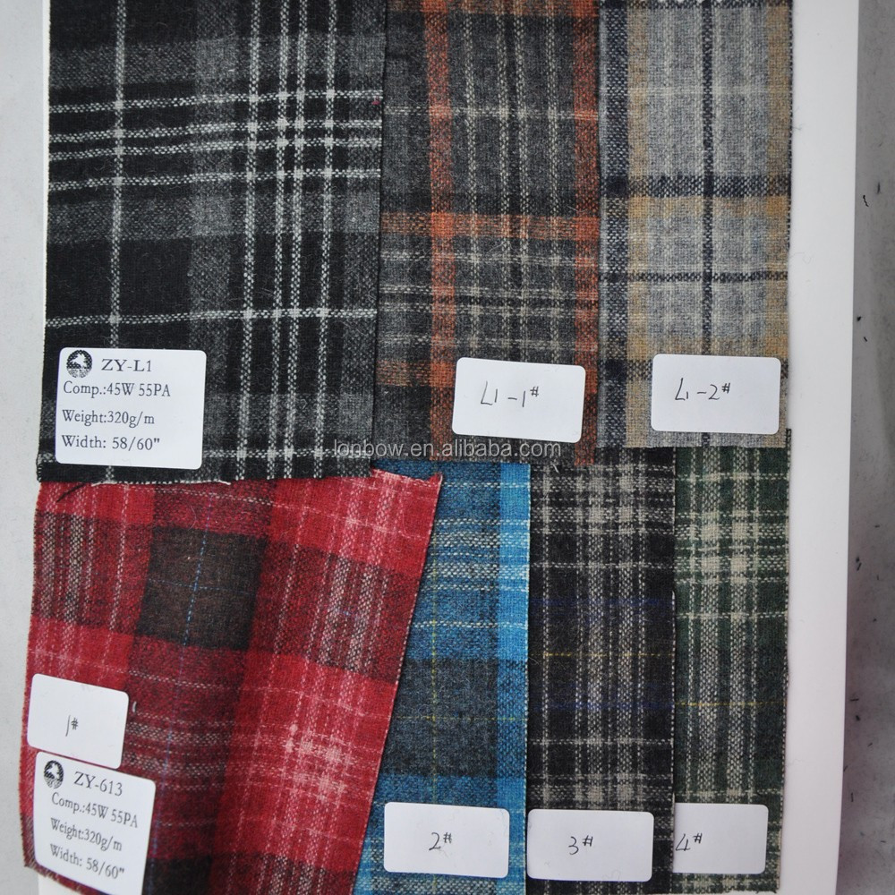 Sell cheap polyester fabric rolls tartan plaid fabric in stock