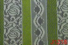 White&Green Two Tone Polyester/Cotton Jacquard Mesh Fabric for Garment