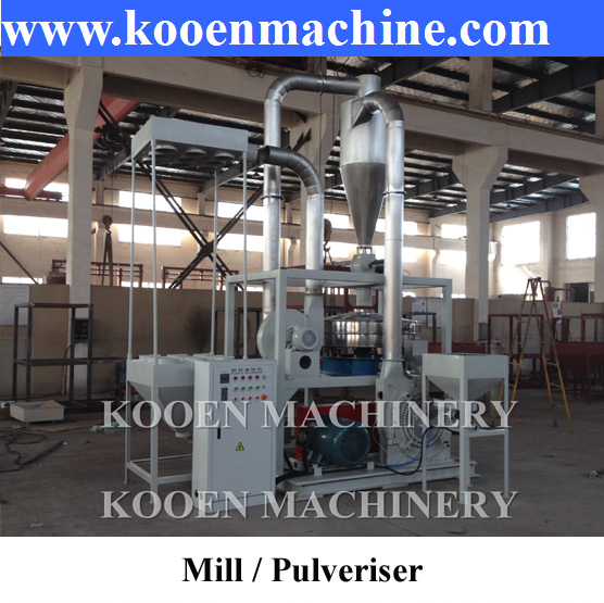 Waste PE PVC PS plastic pulverizer grind machine