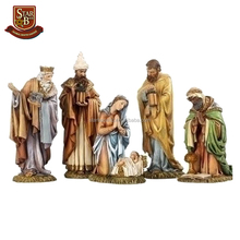 Custom made handmade carved hot new product polyresin religious figurines for nativity set