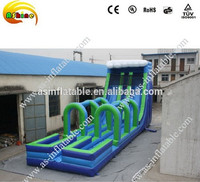 Giant inflatable pool slide for adult inflatable pool water slide water park double slide
