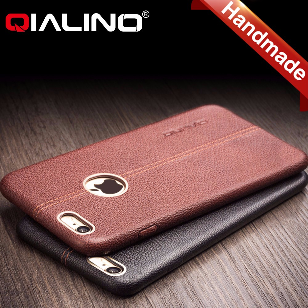 QIALINO Pure Hand Made Real Leather Mobile Phone Case For Iphone 6 6S Accessories