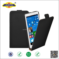 ultra slim PU leather phone cover flip case back cover for Alcatel Pixi 3(8) LTE, for Alcatel Pixi 3(8) LTE case-----laudtec