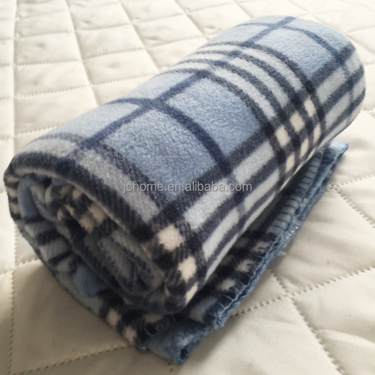 polar fleece knit polyester travel blanket, wholesale wool adult tv plaid blanket