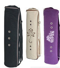 Women fashion style cotton fabric yoga mat gym bag for sale