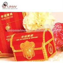 red wedding mailbox design clear indian favor boxes