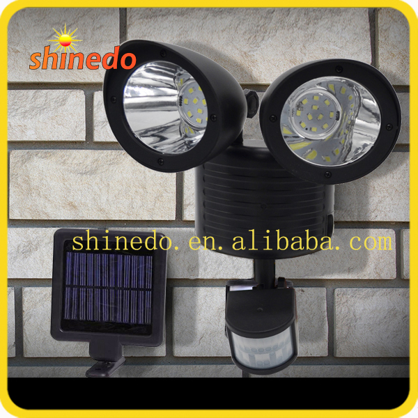 Classical Double Heads Garage Gate Lighting Motion Sensor Detector Solar Lights Outdoor