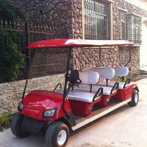 6 seater electric golf cart red mobility scooter