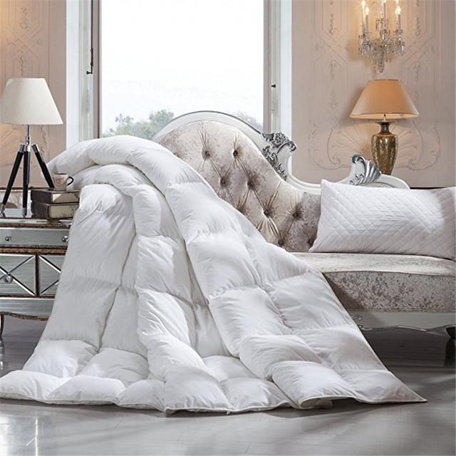Latest Design cotton down proof fabric goose down filling comforter wholesale luxury hotel down duvet