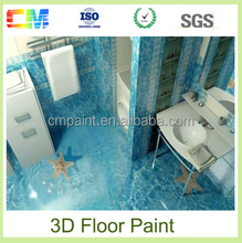 Cheap 3D effect nontoxic epoxy floor paint