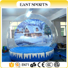 Best selling xmas inflatable snow globe/snow globe with blowing snow/Top quality cheap airblown snow globe