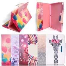 Cute Pattern Leather Smart Cover Case for ipad 2017 , for ipad new case