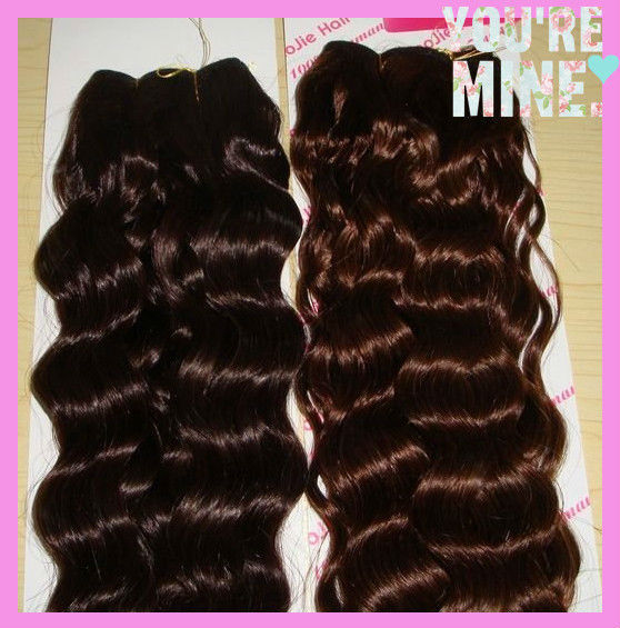 Best choice 100% peruvian virgin colored hair weave color #4