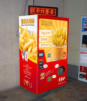 touch screen hot food vending machine for french fries