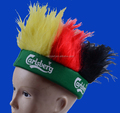 Cheap team sports football fans afro wig hat with headband for world cup football game