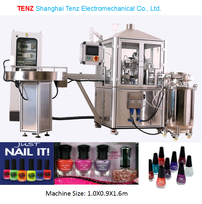 2015 New Design Nail Polish bottle Filling Machine/Capping Machine Tenz