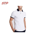 Smart Black And White Teenager Polo With Black Button