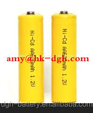 High capacity NI-CD AA 600mAH 1.2V rechargeable battery pack