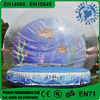 Outdoor Promotion Giant Inflatable Human Size Snow Globe For Taking Photo
