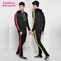 Tech fleece gym tracksuit with stripe windproof track suits