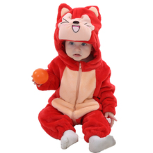 2017 baby winter carton jumpsuits animal Pajamas many design OEM