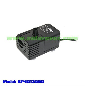 DC brushless dry run protection water fountain pump (BP401209D)