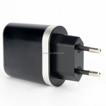 High Quality EU Plug 5V 3.1A/1A Dual USB AC USB Charger Wall Power Adapter for Samsung HTC Cell Phones