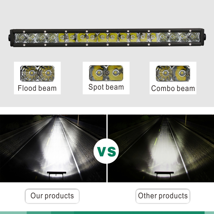 Wholesale Price Single row 90w Combo 19Inch Led Light Bar