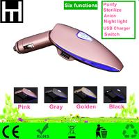 Good quality low price multifunctional Mini 12V Freshener Ionizer Oxygen car ionic air purifier