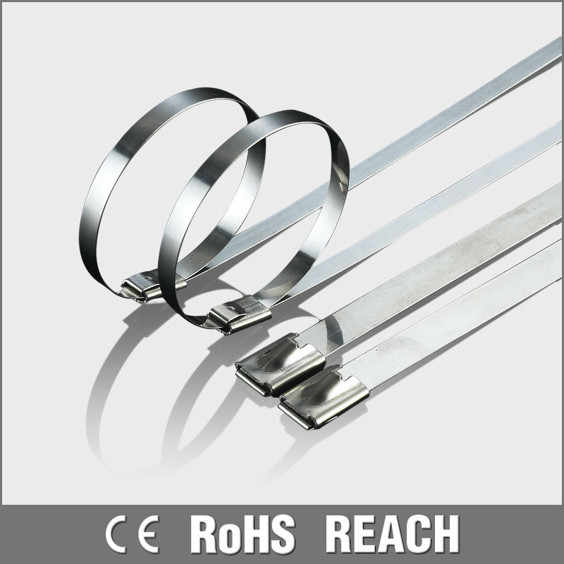 Self-locking stainless steel cable ties