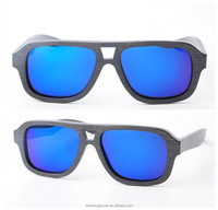 China wholesale wood sunglasses, fashion models with polarized lens, 100% UV400 approval CE in China BM1039-3