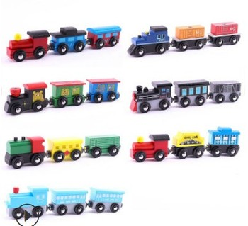 Fashion kids hot toy wooden educational toys alphabet train trackless train toy miniature train