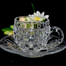 Hot Sale High Quality Gorgeous Clear Glass coffee Tea Cups Set