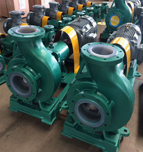 IHF series hydrochloric acid corrosion resistant fluorine plastic centrifugal chemical pump.