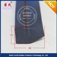 Scratch sheet metal edge strips rubber seal ISO in weather stripping