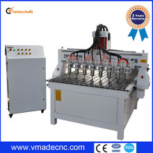 multi spindle 3d cnc router wood milling engraving cutter and engraver machine price for MDF plywood