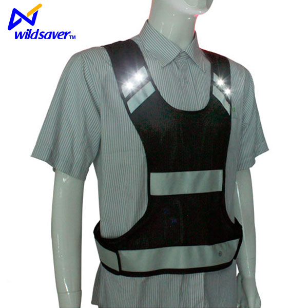 Outdoor flashing LED reflective safety clothes