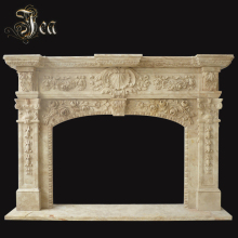 Home Decoration Elegant Natural Indoor Handmade Marble Fireplace