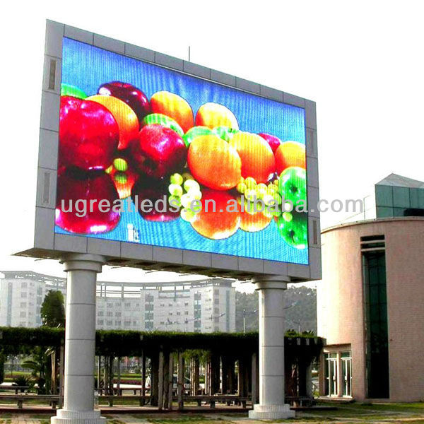 P16mm full color outdoor led writing board/tv signs