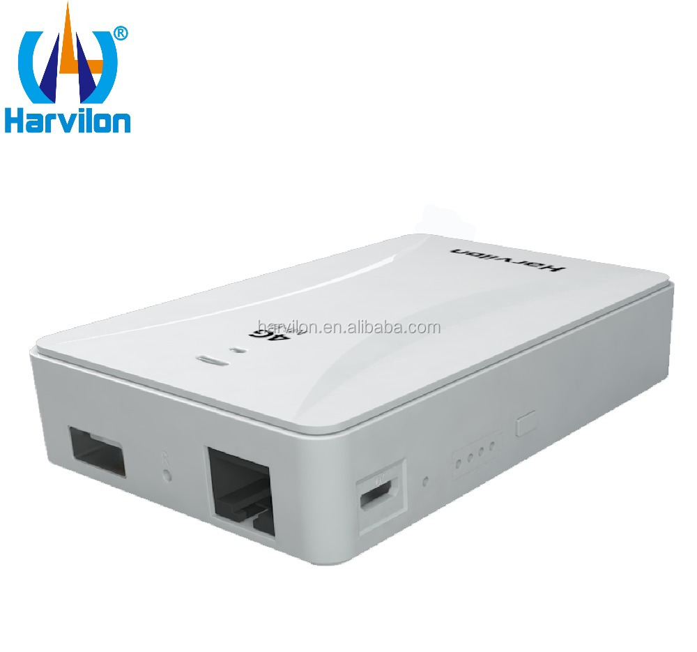 2017 Harvilon LTE CCTV TAXI Modem WiFi Router with Lan Port Pocket Modem with Power Bank Function