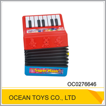Kids electric plastic music instruments toy accordion with flashing light OC0276646