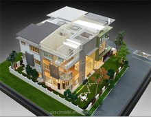 Lighting miniature architectural models for real estate,3d building house model
