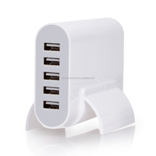 5-Port Family-Size USB Wall Charger for iPhone 6 5s 5c 5 iPad Air mini Galaxy