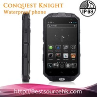 Original CONQUEST KNIGHT XV Customized 4.3 Inch IP68 Smart Waterproof Android 3G GPS Mobile Phone
