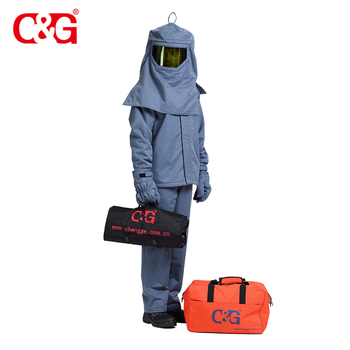 Arc Flash suit, Protection Clothing Kit, 40cal/cm2 , 4-HRC, ASTM F1959, ASTM F2621, IEC61482